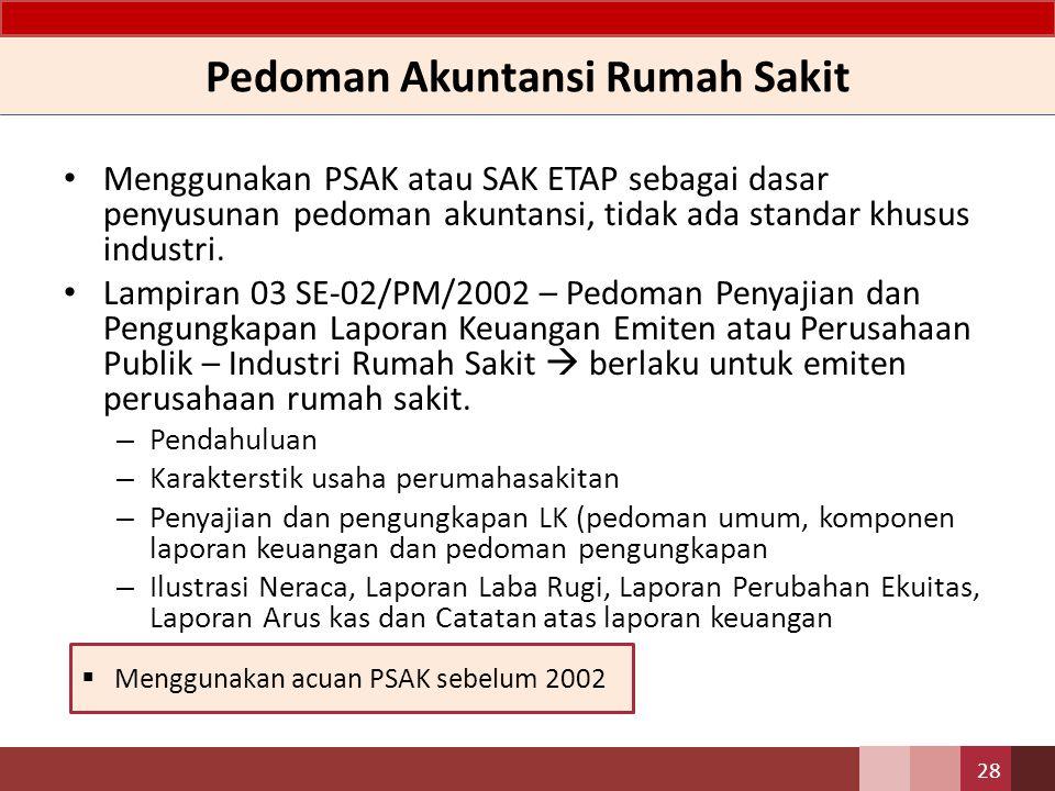 Pedoman Akuntansi Rumah Sakit – BLU&D Keputusan Menteri Kesehatan RI No 1981/MENKES/SK/2010 – Pedoman Akutansi Badan Layanan Umum Rumah Sakit.