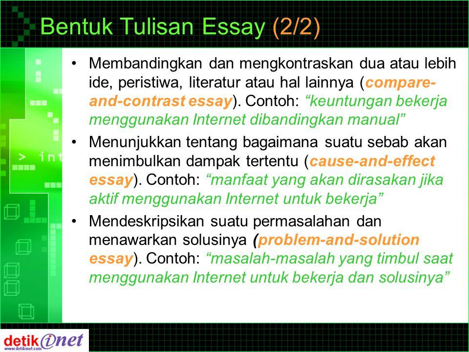 Bentuk Tulisan News (1/2) Konsep Piramida Terbalik dan 5W1H Alinea 1 Alinea 2, 3, 4… What Where When Why Who How