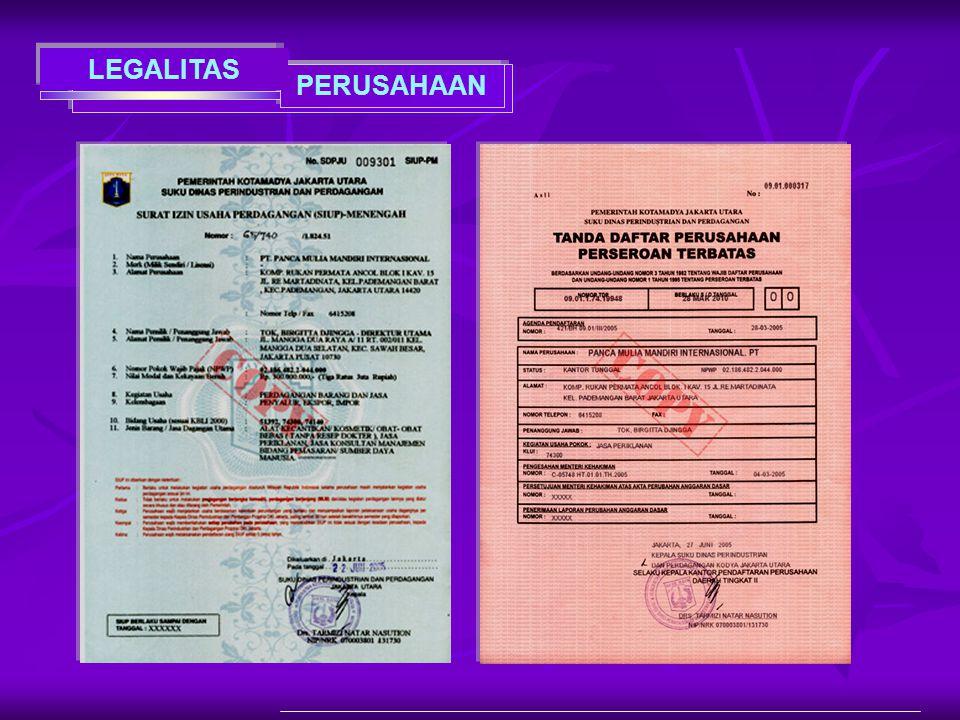 PERUSAHAAN LEGALITAS