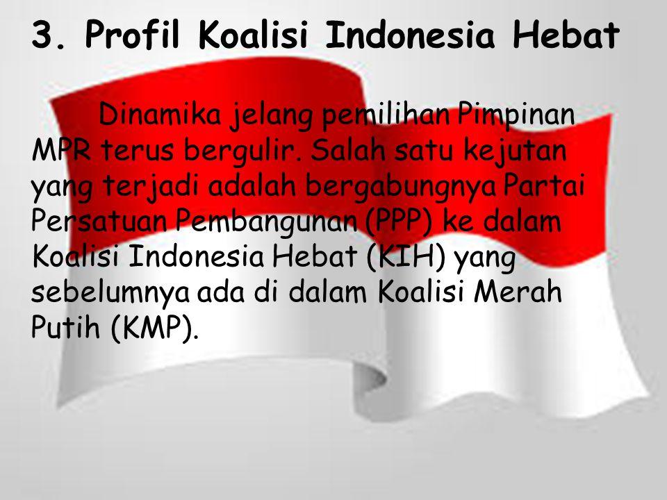 Koalisi Indonesia Hebat yang mengusung Joko Widodo (Jokowi)- Jusuf Kalla menerima nama Oesman Sapta sebagai calon pimpinan MPR.