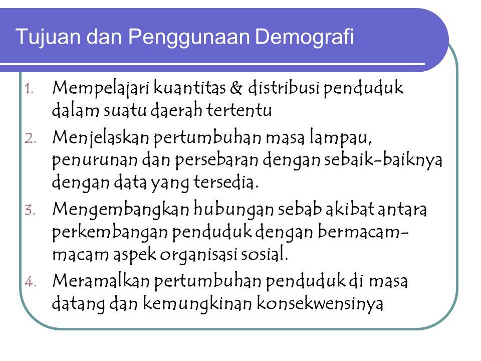 Tujuan dan Penggunaan Demografi 1.