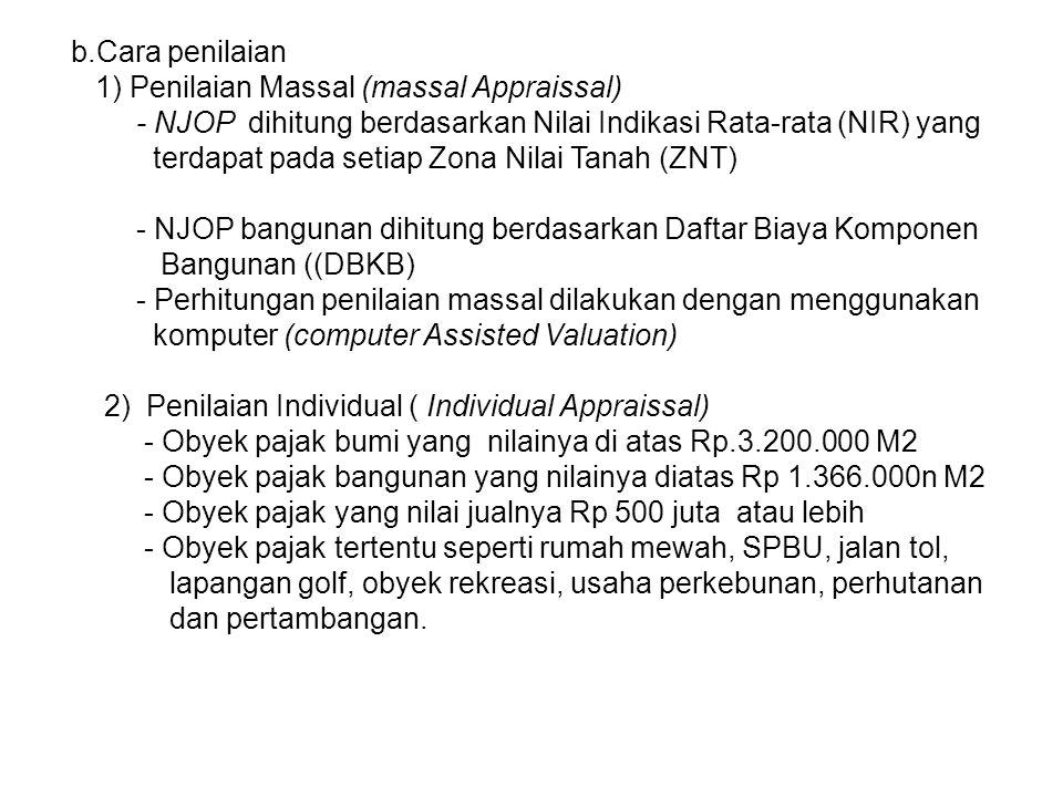 PERHITUNGAN PBB 1.Perhitungan WP perorangan Luas tanah (bumi) 204 M2 Kelas A24 NJOP Rp 285.000 /M2 Hitunglah berapa PBB yg harus dibayar pada tahun 2010.
