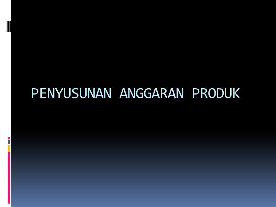 (1) Mengutamakan Stabilitas Produk (satu macam produk) ilustrasi : Perusahaan kecap yg hanya memproduksi 1 jenis kecap dan jualan tahun 2016 dianggarkan; triwulan I: 43 botol, II: 45 botol, III: 47 botol IV: 47 botol, total setahun 182 botol.