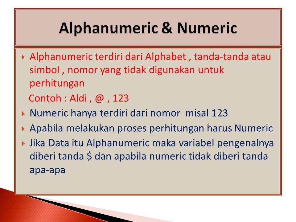 Membuat Sebuah Program untuk menginput Nama dan Umur seseorang Cls Input Nama : , Nama$ Input Umur : , Umur Stop