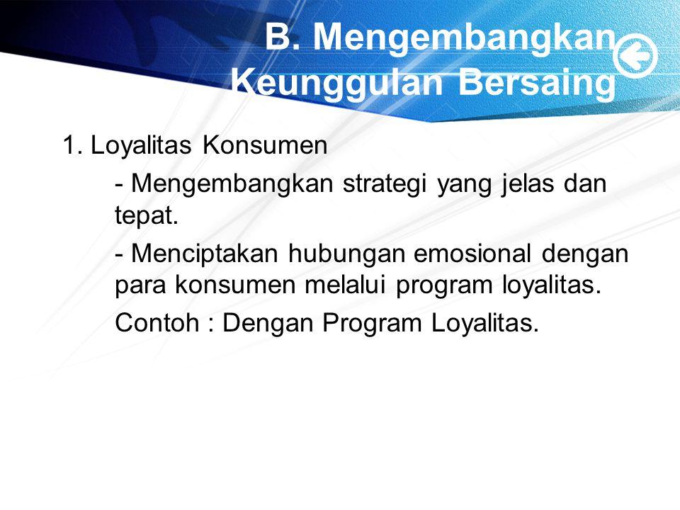 1.Program Loyalitas.
