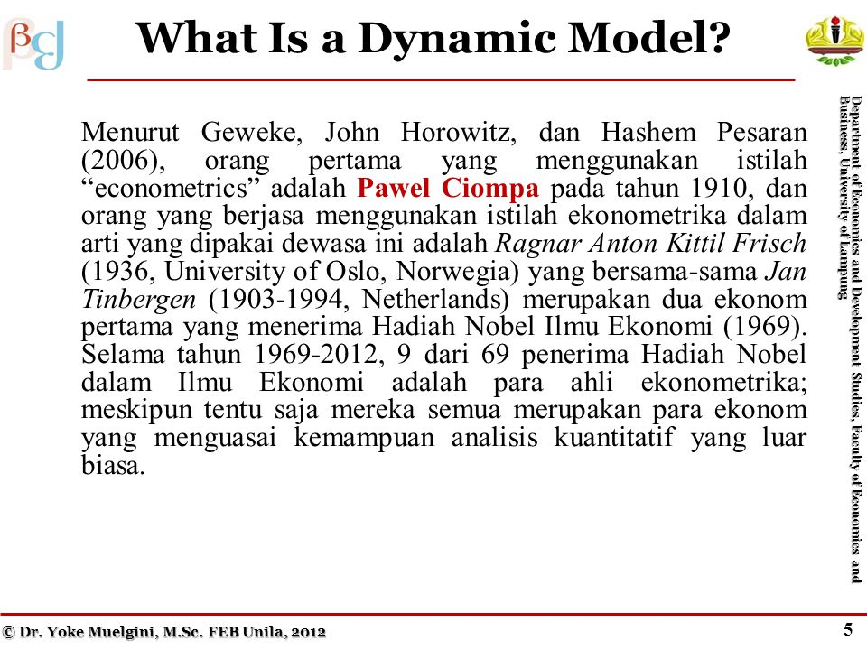 5 What Is a Dynamic Model.