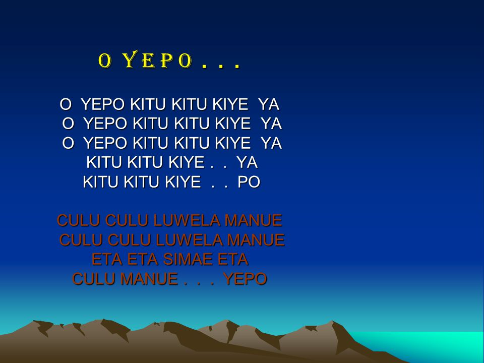 O Y E P O...