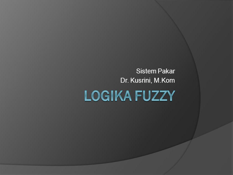 Logika Fuzzy  Konsep Logika Fuzzy dicetuskan oleh Lotfi Zadeh, seorang profesor University of California di Berkeley  Sebuah himpunan fuzzy dari semesta U dikelompokkan oleh fungsi keanggotaan μ A (x) yang berada pada nilai antara [0, 1] (Wang, 1997).