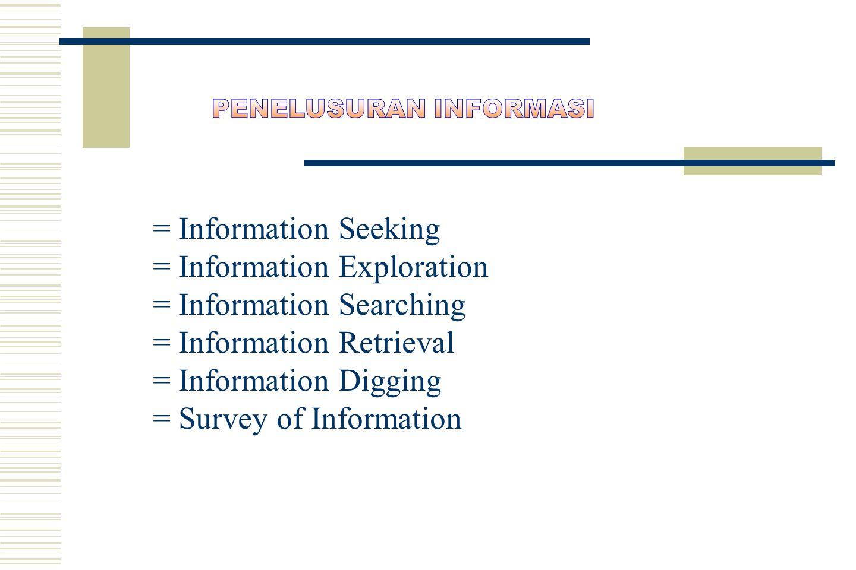 MacMillan dictionary information techology the techniques for storing and searching large quantities of data and making seleced data available (teknik penyimpanan dan pencarian sejumlah data dan memungkinkan data tersebut ada (tersedia) Lasa Hs.