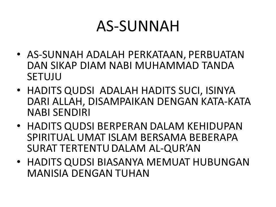 SUNNAH DALAM BERBAGAI MAKNA SUNNATULLAH SUNNAH AR-RASUL/SUNNATUR RASUL SUNNAH DALAM HUBUNGANNYA DENGAN AL-AHKAM AL-KHAMSAH AHLUSSUNNAH WAL JAMAAH