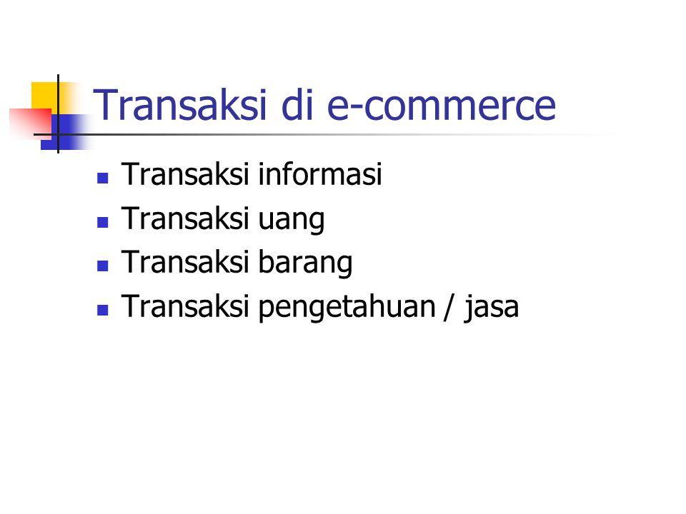 Trend ke transaksi fisik E-commerce
