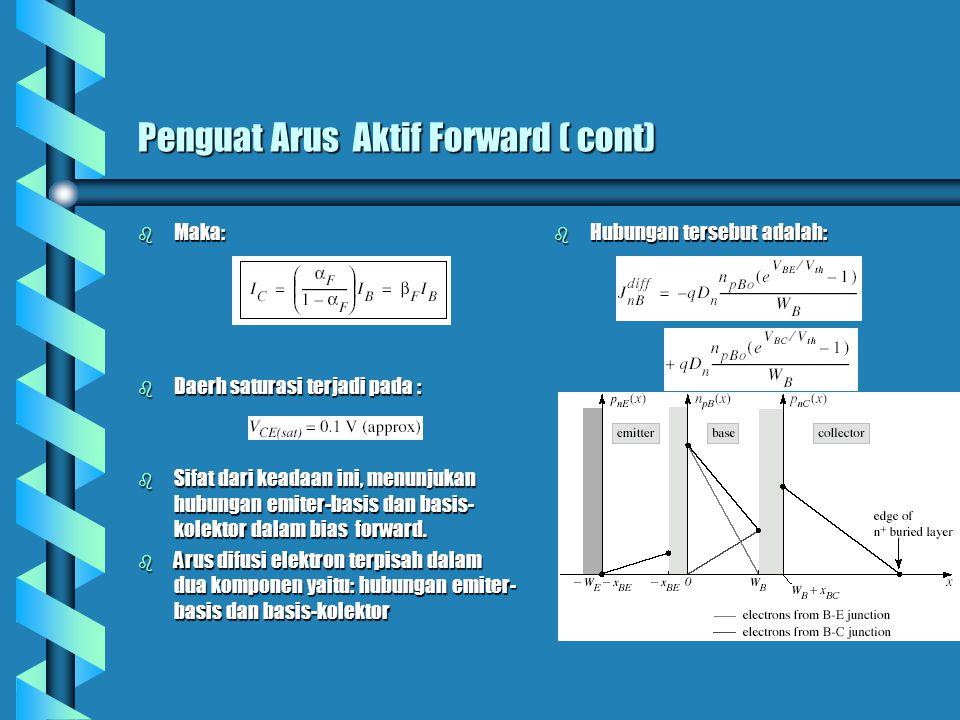 Model Ebers-Moll b Arus difusi Elektron : b Arus emiter terdiri dari 3 komponen: 1.