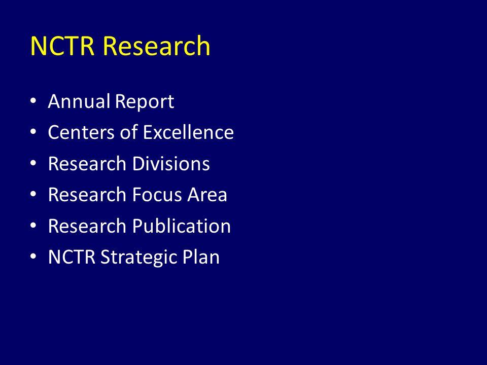 Deskripsi Melakukan riset sesuai misi Badan Regulasi, peer-reviewed untuk kebijaksanaan regulatory dan mengurangi risiko untuk melindungi dan meningkatkan dan kesehatan Meliputi riset dasar dan terapan untuk memahami mekanisme toksisitas, menilai obat baru dan membuat pedoman untuk pengembangan standard Badan Regulatory dan product risk surveillance