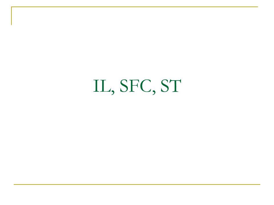 Pendahuluan IEC 1131-3 pemrograman :  Instruction Lists(IL)  Sequential Function Chart(SFC)  Structured Text(ST) Merupakan cara memprogram PLC selain dengan Ladder Diagram Lebih ke source code based programming method