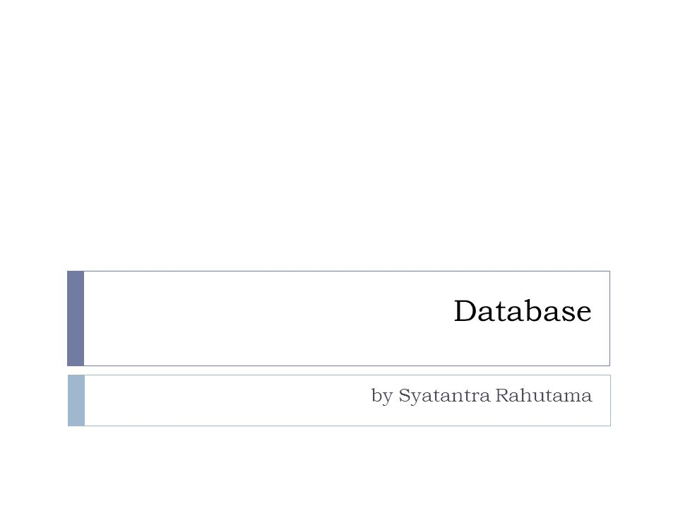 Apa itu Database .