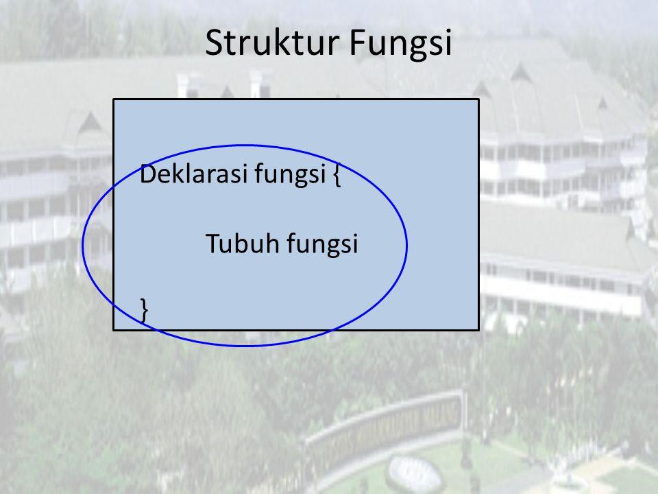 Fungsi Buatan Sendiri Langkah apa yang harus dilakukan untuk membuat fungsi.