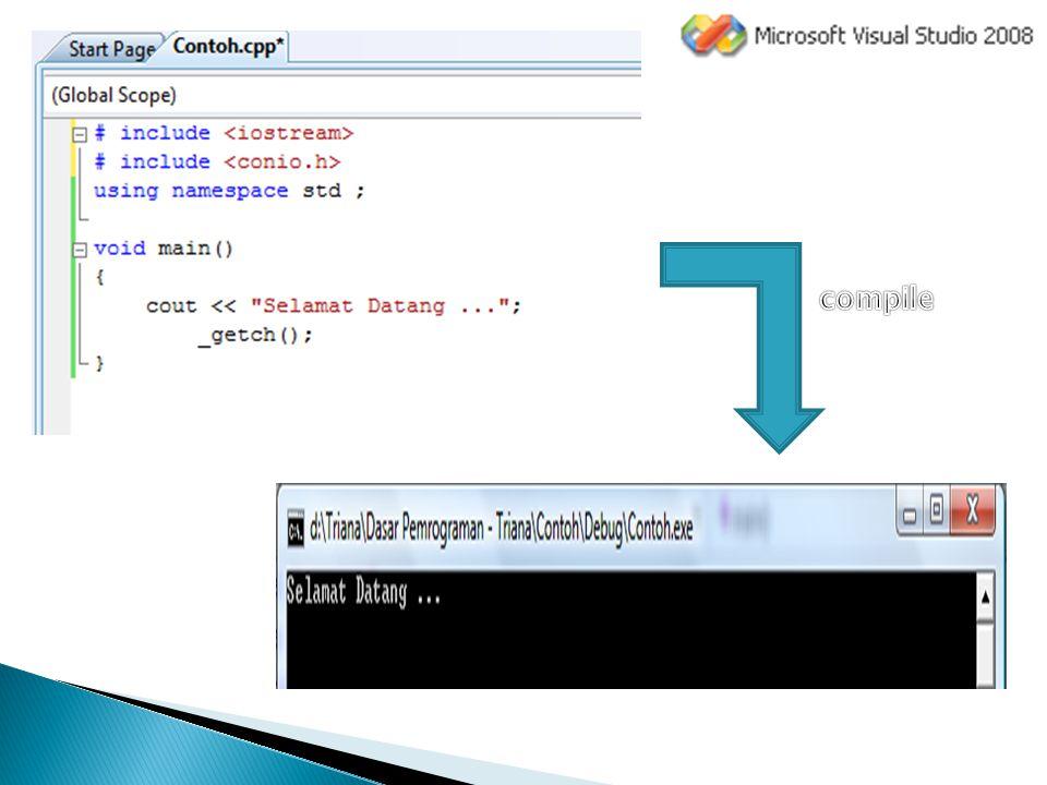 #include  Merupakan preprocessor untuk menyisipkan file lain saat kompilasi.