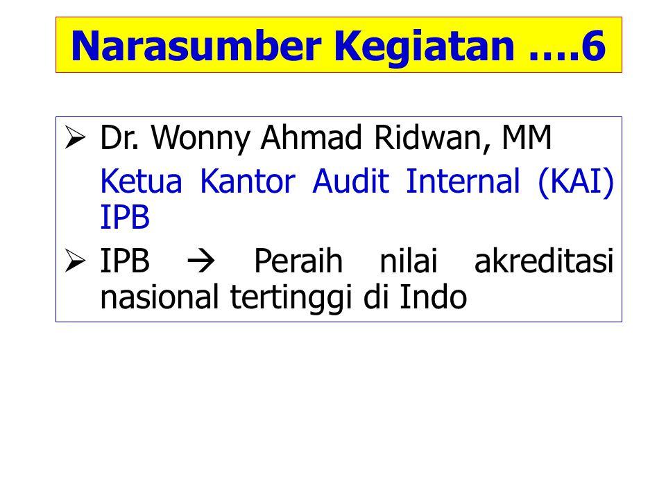 Narasumber Internal ….7  Prof.Dr.