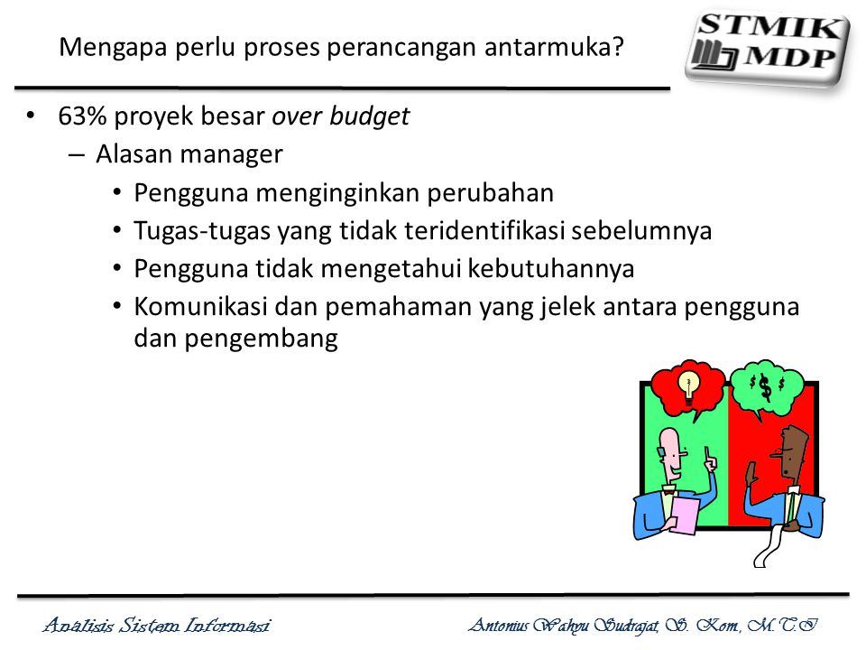 Analisis Sistem Informasi Antonius Wahyu Sudrajat, S.