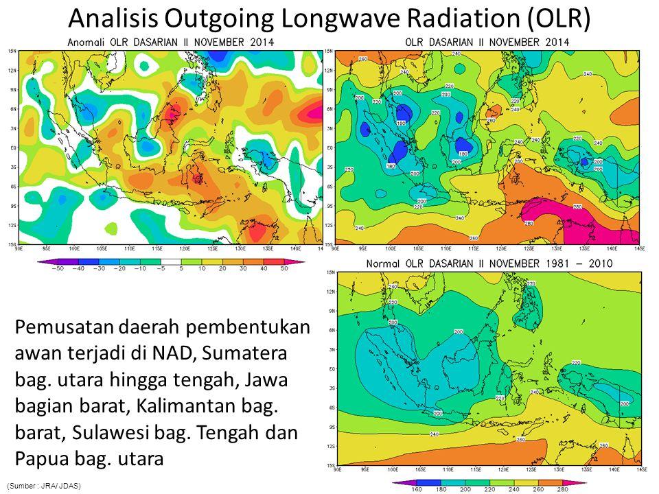 Analisis Anomali Suhu Muka Laut Indeks DM : 0.015 /Normal; Anomali SST Indonesia : -1.0 s.d + 1.0 o C/ Hangat; Indeks Nino3.4 : 0.817 o C /El Niño lemah  Penguapan di wilayah Indonesia relatif lebih tinggi dibanding dengan klimatologisnya terutama di Indonesia bag barat, serta terjadi pengurangan pasokan uap air yang tidak signifikan ke Samudra Pasifik dari wilayah Indonesia bag.