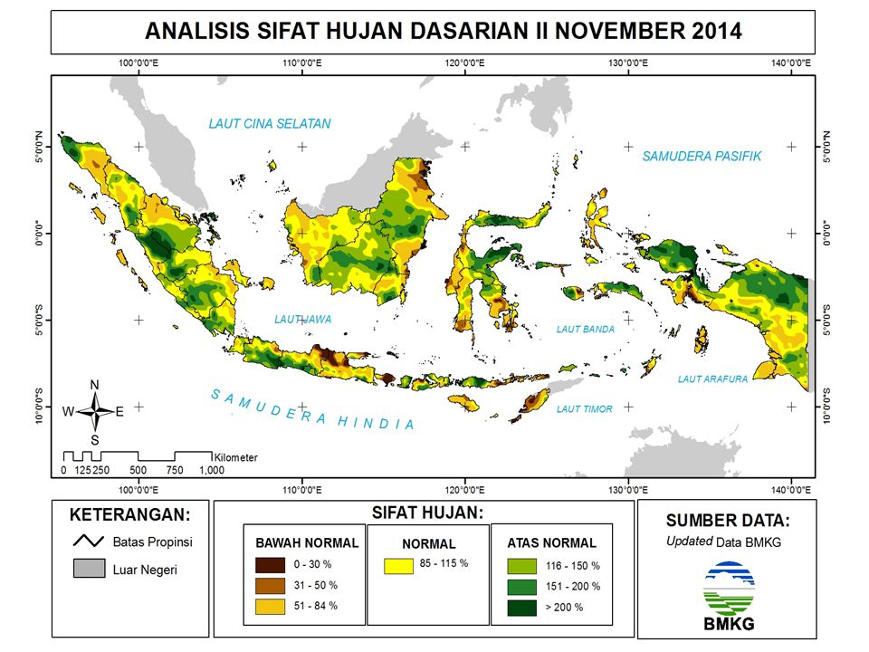 Kejadian Iklim Ekstrim (Banjir) Dasarian II November 2014 Provinsi Riau : -Kab.