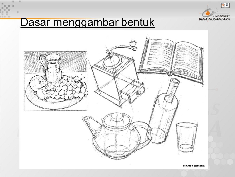Bentuk dasar mempelajari bentuk dasar dari suatu objek mempermudah kita dalam menggambar.