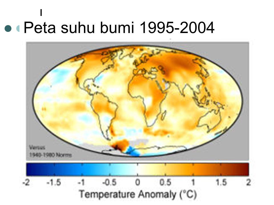 Peta suhu bumi 1995-2004