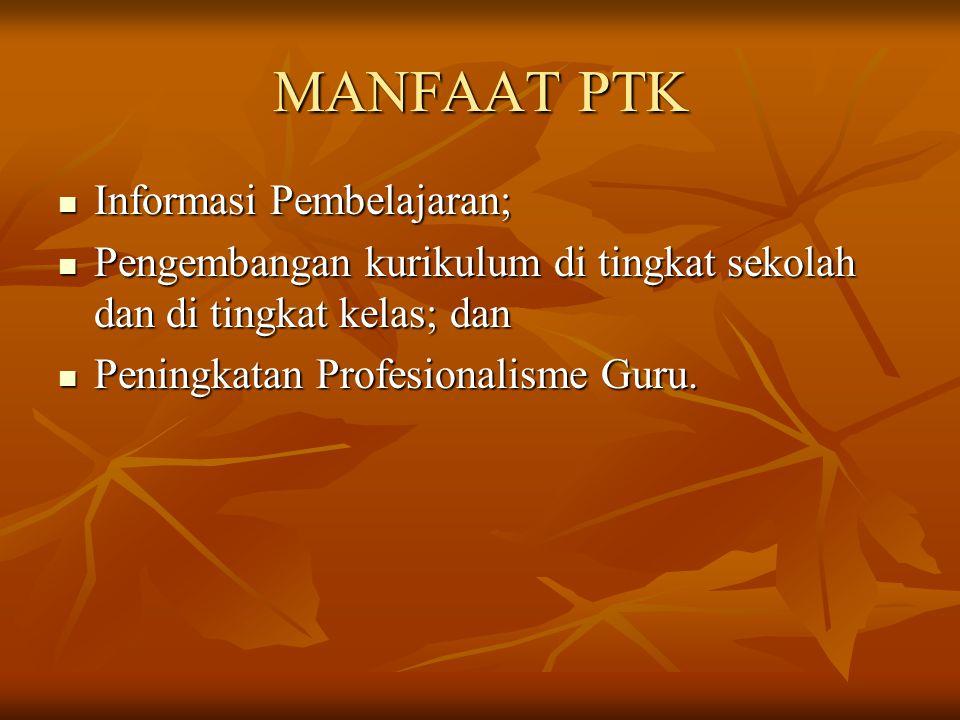 FUNGSI PTK Fungsi penelitian tindakan kelas sebagai alat untuk meningkatkan kualitas pelaksanaan kerja.