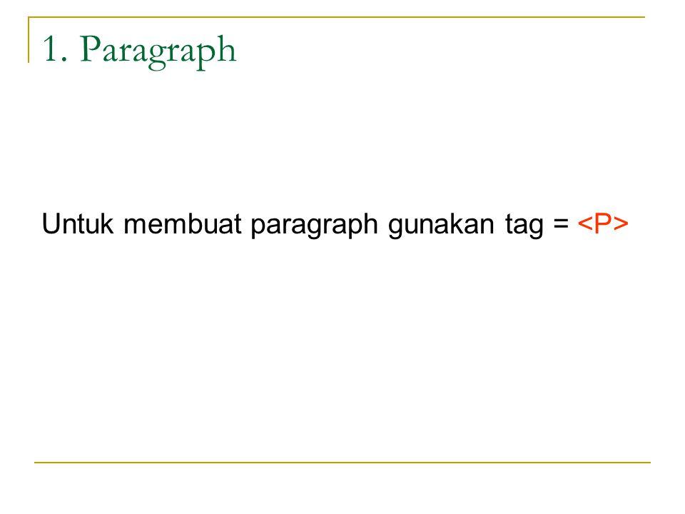 Latihan Paragraph Paragraph Tulisan ini akan tampil pada halaman web anda.