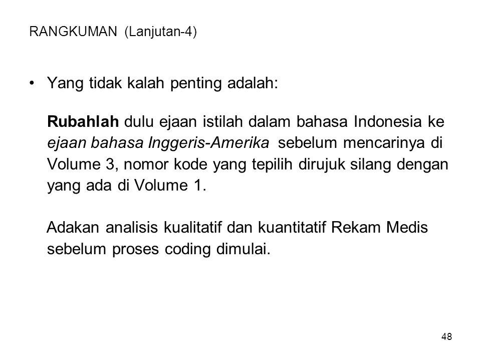 49 SOAL LATIHAN Ejaan istilah dalam bahasa Indonesia: 1.