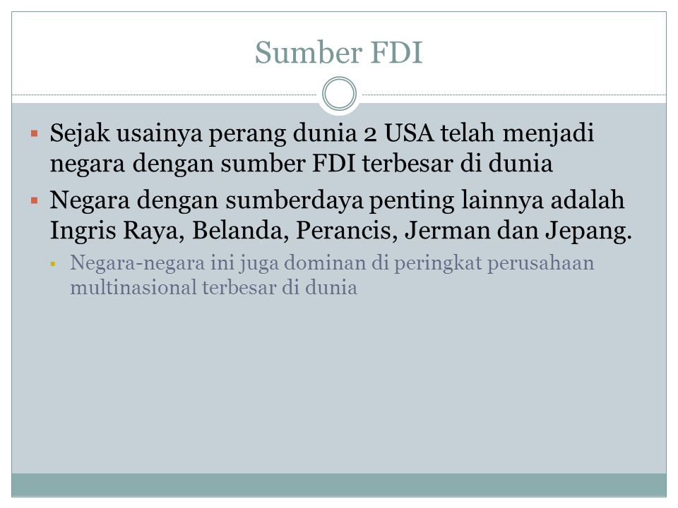 Cumulative FDI Outflows ($ billions), 1998 - 2008