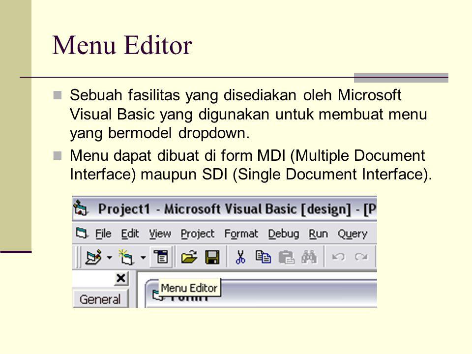 Menu Editor