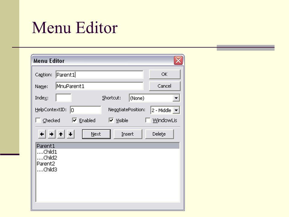 Fitur Menu Editor Caption Nilai Text yang akan tampil pada menu.