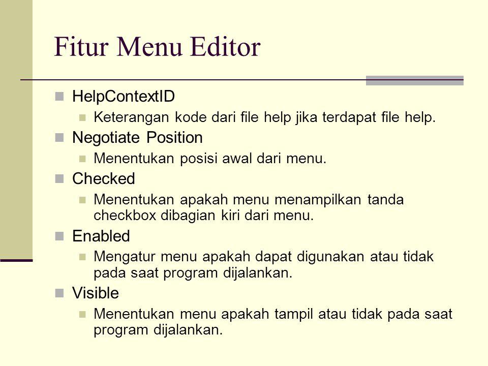Fitur Menu Editor Left Button Membuat menu child naik 1 level menjadi parent.