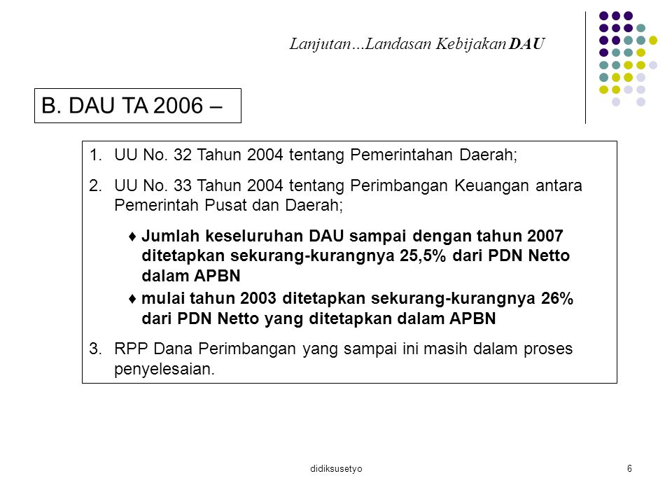didiksusetyo7 Variabel perhitungan DAU A.