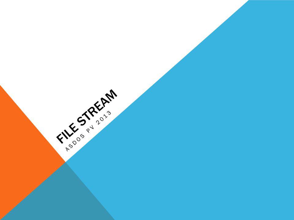 MENULIS FILE Kelas StreamWriter merupakan turunan dari kelas TextWriter yang dapat digunakan untuk menulis data text ke aliran karakter.