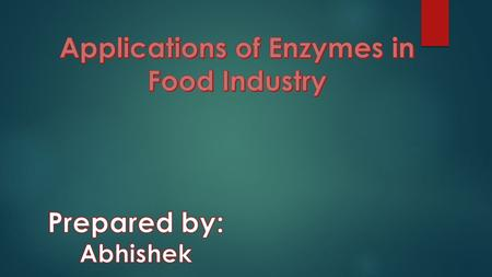 Enzyme technology is concerned with the application of enzymes as tools of industry, agriculture and medicine. Enzymes are biological catalysts that fulfil.