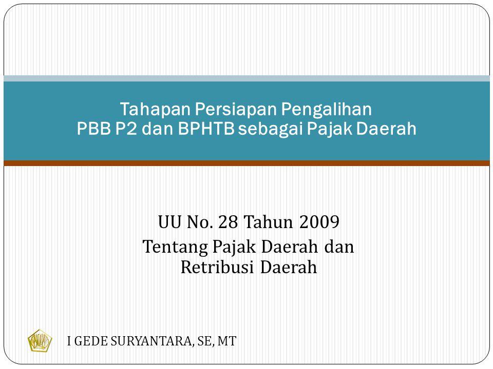 Dasar Hukum Pengalihan PBB P2 & BPHTB UU NO.