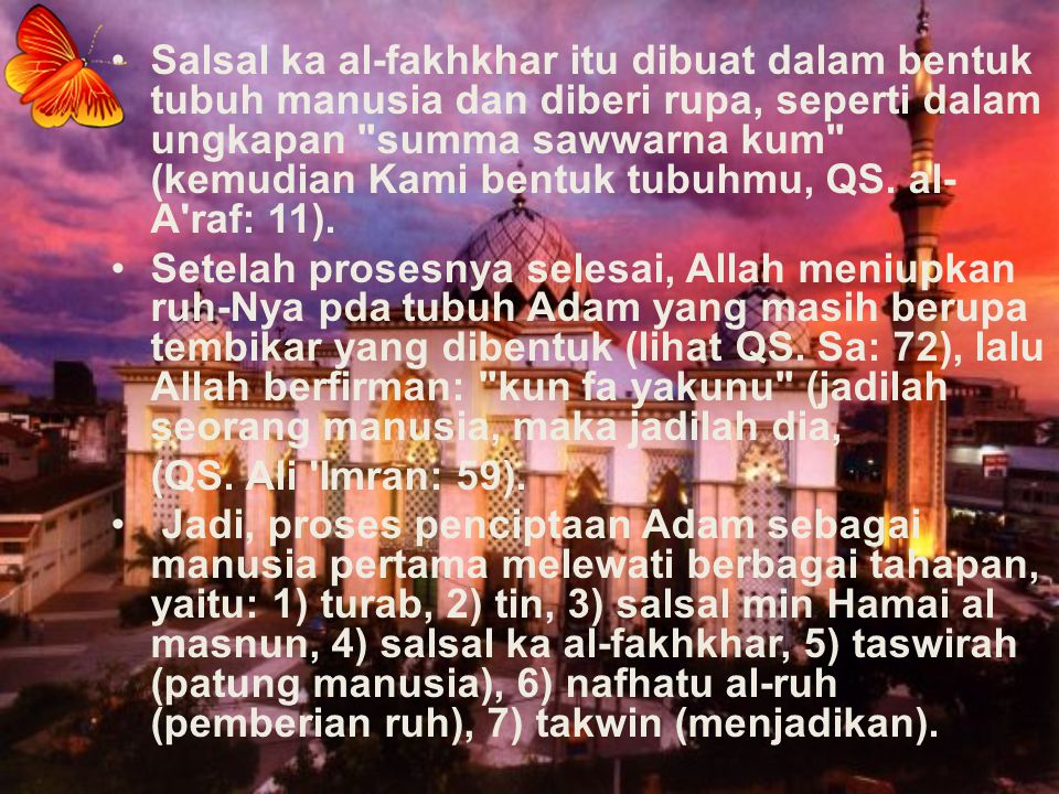 Sperma atau ovum, dalam al-Qur an, disebut mani (QS.