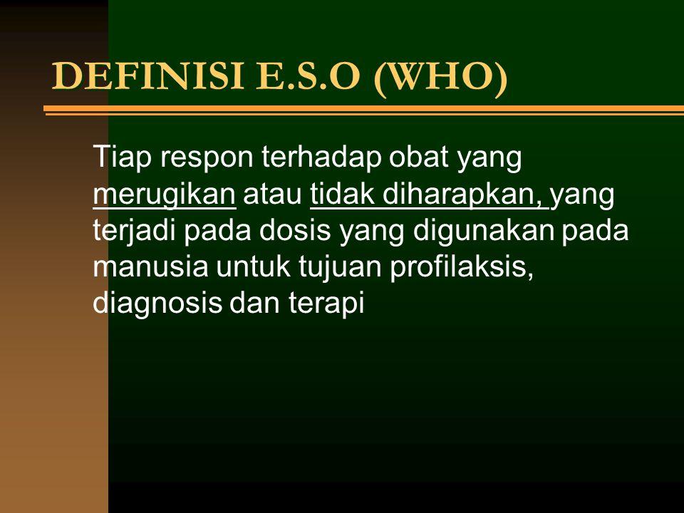 MONITORING EFEK SAMPING OBAT Aspek yang harus dipertimbangkan dalam pemakaian obat adalah: 1.
