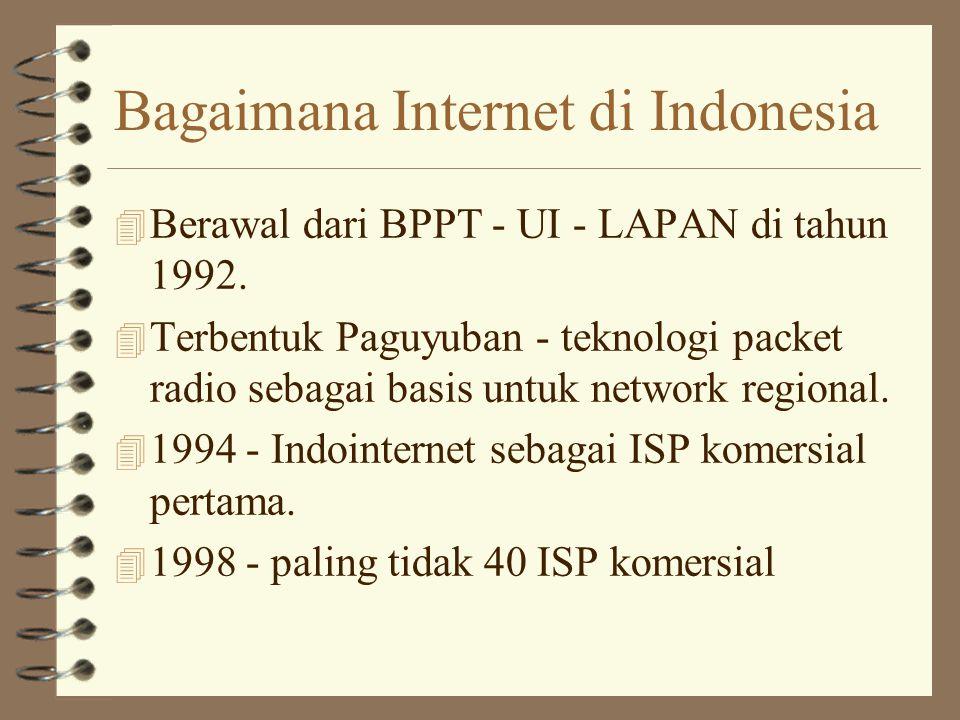Bagaimana Internet di Indonesia 4 Berawal dari BPPT - UI - LAPAN di tahun 1992.
