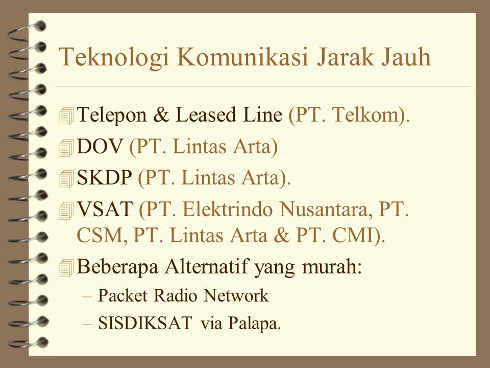 Teknologi Komunikasi Jarak Jauh 4 Telepon & Leased Line (PT.