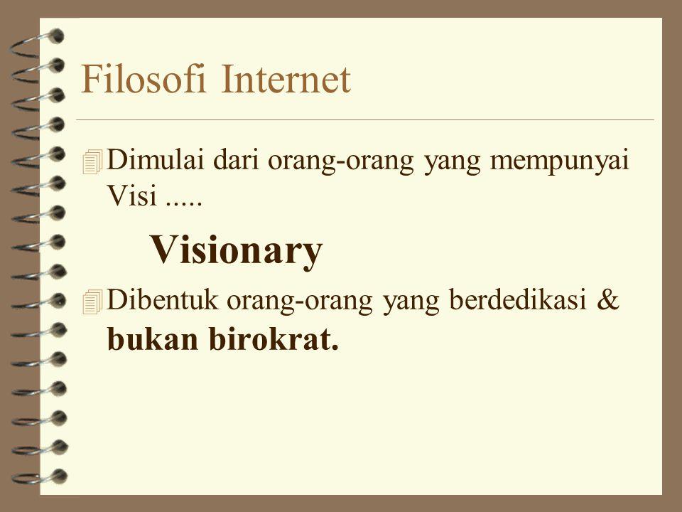 Filosofi Internet 4 Dimulai dari orang-orang yang mempunyai Visi.....