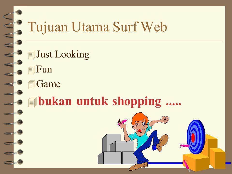 Tujuan Utama Surf Web 4 Just Looking 4 Fun 4 Game 4 bukan untuk shopping.....