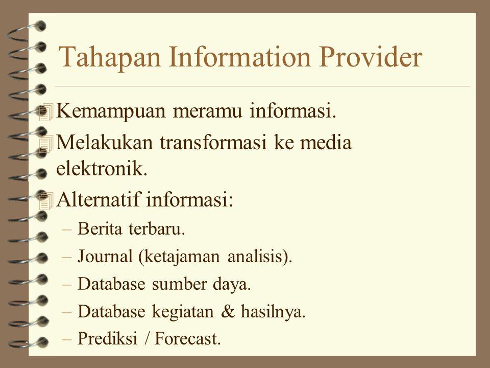 Tahapan Information Provider 4 Kemampuan meramu informasi.