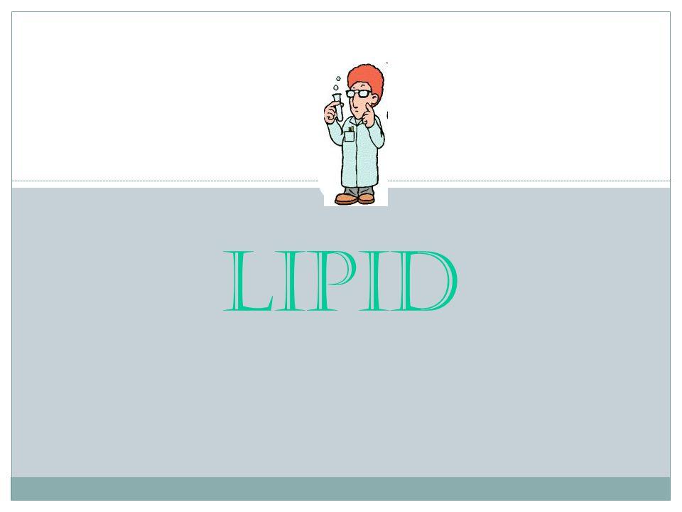 Pengertian Pengertian lipid yang paling tepat (dilihat dari kelarutannya), adalah senyawa biomolekul yang larut dalam pelarut non polar (kloroform, eter, benzena, dsb).