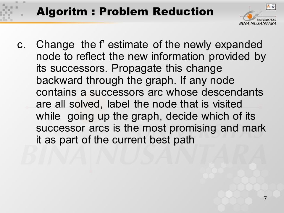 8 The Operation of Problem Reduction