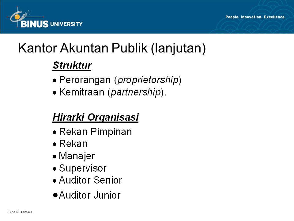 Bina Nusantara Organisasi Profesi Akuntan Publik