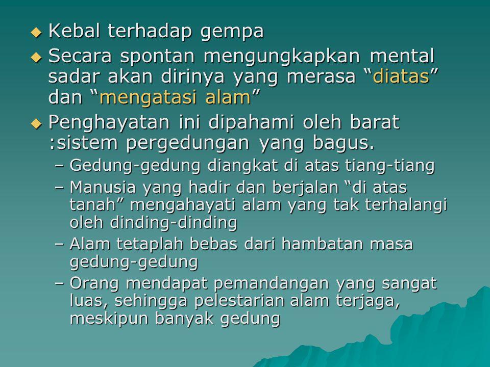 Paper Project 2  Bentuk kelompok 3-4 orang  Tuliskan kembali disertai tanggapan yang berdasarkan pada literatur atau bahan yang dapat dipertanggung jawabkan bahasan tentang arsitektur Indonesia.