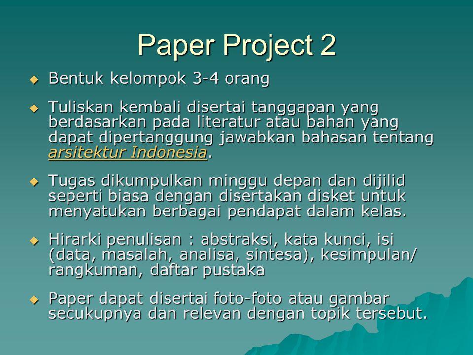 Final Project  Pengumpulan data  Analisa  Foto-foto  Teori pendukung dan penunjang